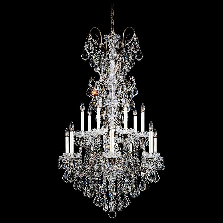 "New Orleans 32"" Wide Bronze Swarovski Crystal Chandelier"