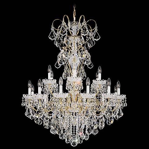 "Schonbek New Orleans 36""W Gold Hand-Cut Crystal Chandelier"
