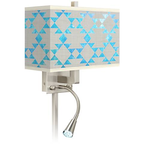 Desert Aquatic Giclee Glow LED Reading Light Plug-In Sconce