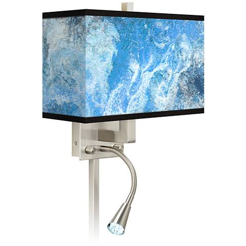 Ultrablue Giclee Glow LED Reading Light Plug-In Sconce