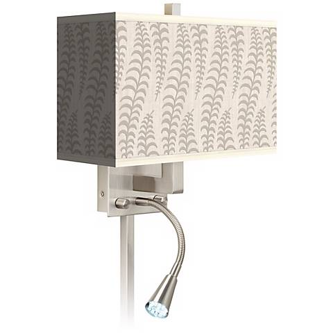 Stacy Garcia Fancy Fern Ice LED Reading Light Plug-In Sconce