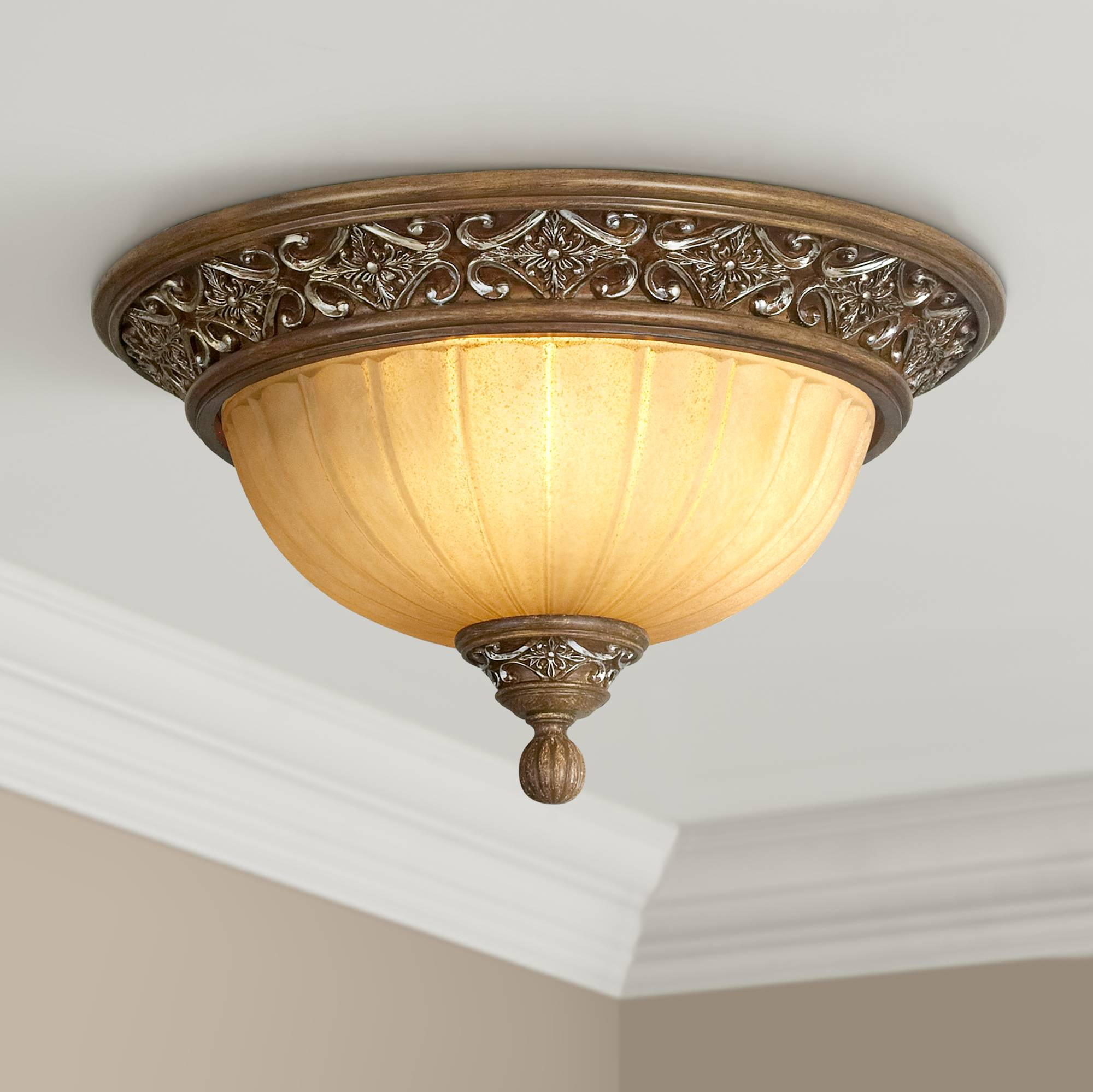 Details About Kathy Ireland Sterling Estate 14 Wide Ceiling Light Fixture