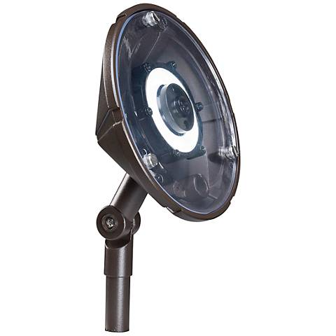 "Kichler 6""W Hi-Low LED Wall Wash Bronze Landscape Light"