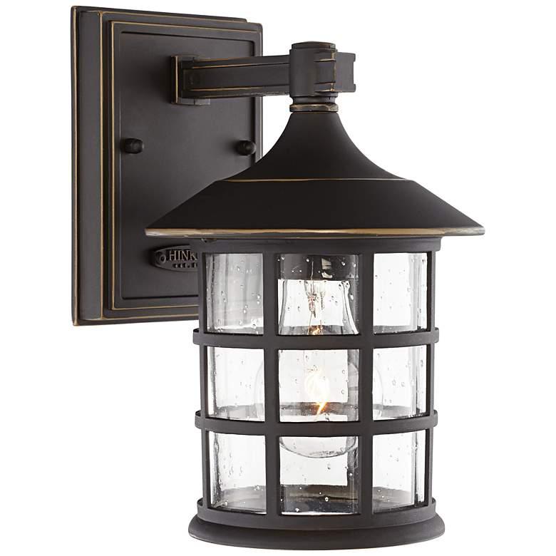 "Hinkley Freeport 9 1/4"" High Bronze Outdoor Wall Light"