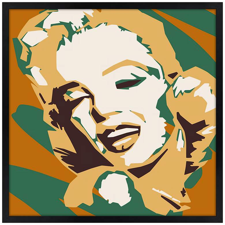 "Classic Blonde II 21"" Square Black Giclee Wall Art"