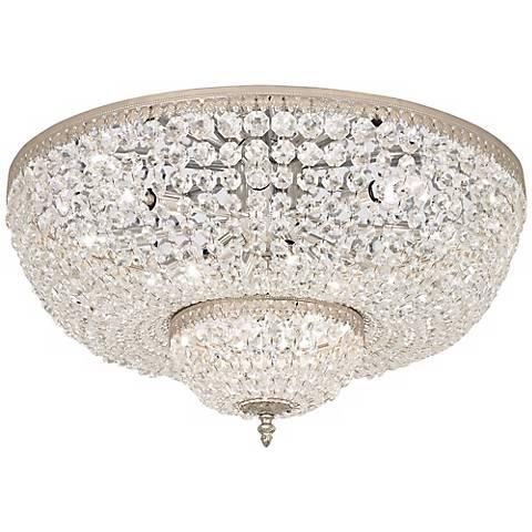 """Schonbek Rialto 24""""W Silver Swarovski Crystal Ceiling Light"""