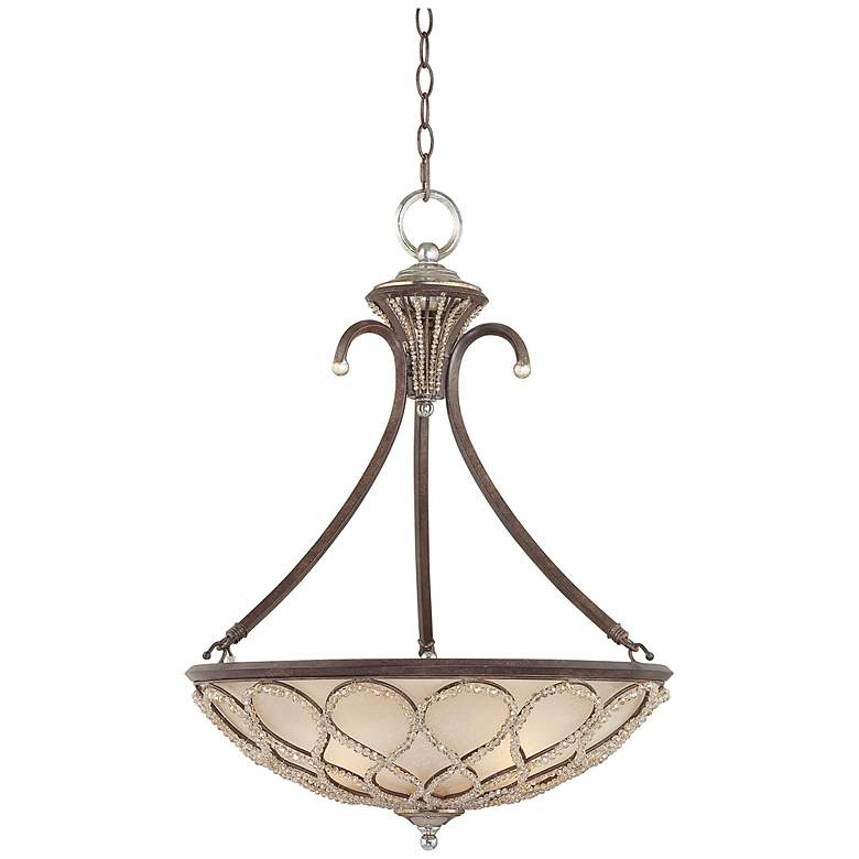 """Tuscan Elegance Collection 21"""" Wide Pendant Light"""