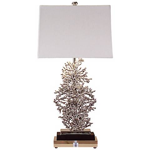John Richard Silver Coral Table Lamp
