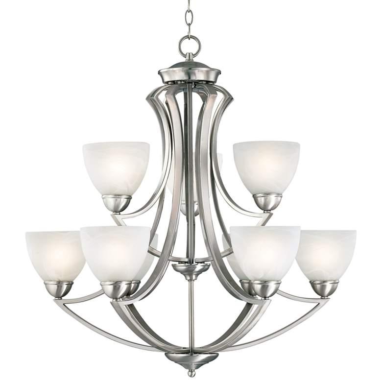 "Possini Euro Design Milbury Nine Light 30"" Wide Chandelier"