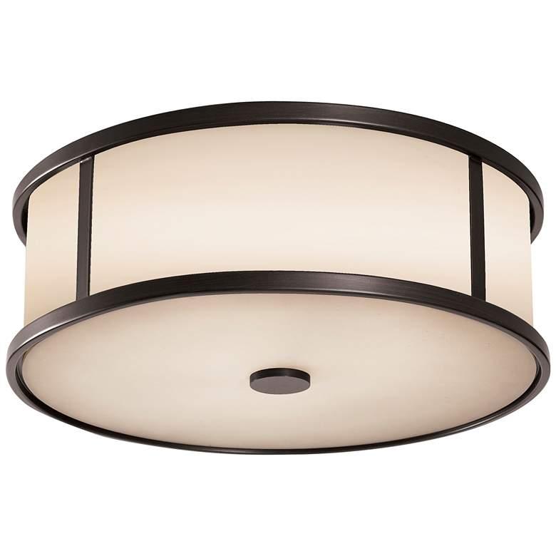 """Feiss Dakota Espresso 14"""" Wide Ceiling Light"""