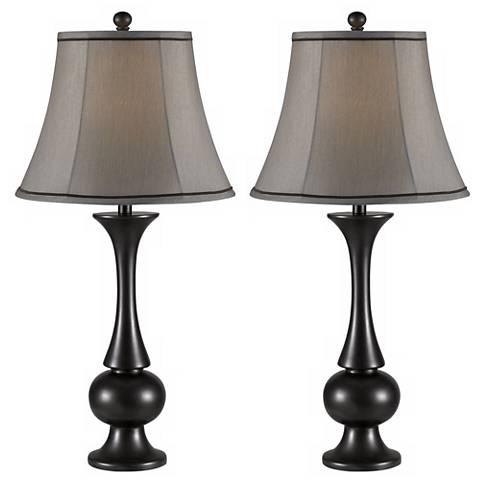 Set of 2 Abbott Metallic Bronze Table Lamps