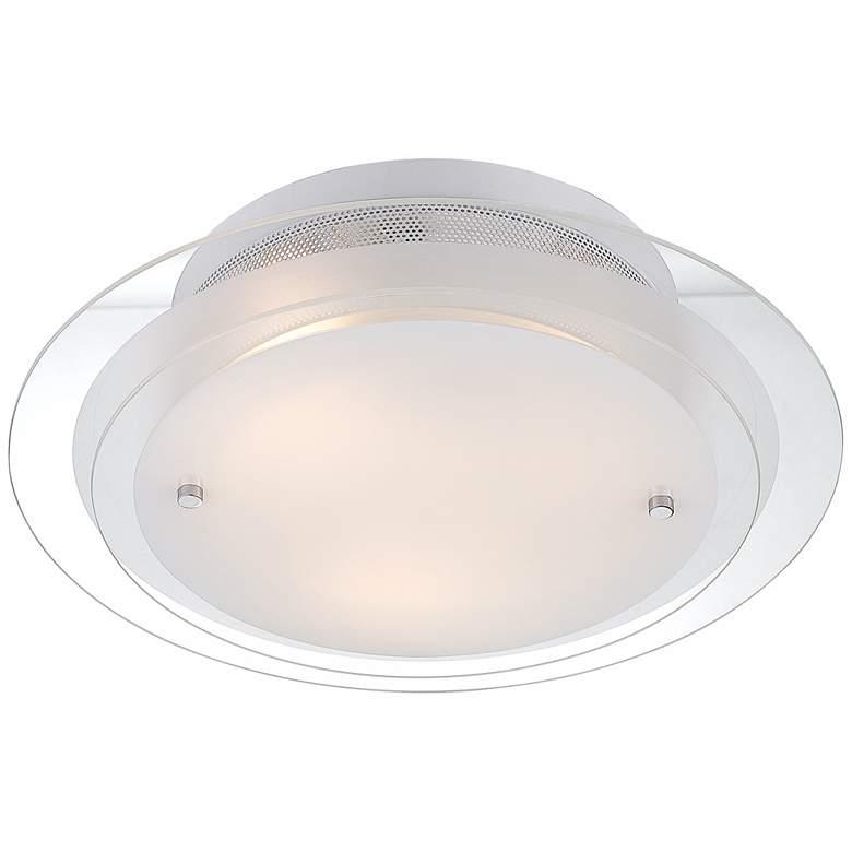 "Possini Euro Design 2-Tier Glass 15 3/4"" Wide Ceiling Light"