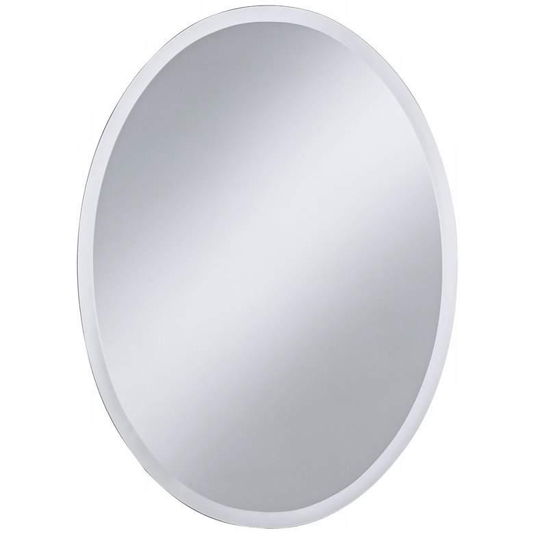 """Regency 22"""" x 30"""" Oval Beveled Wall Mirror"""