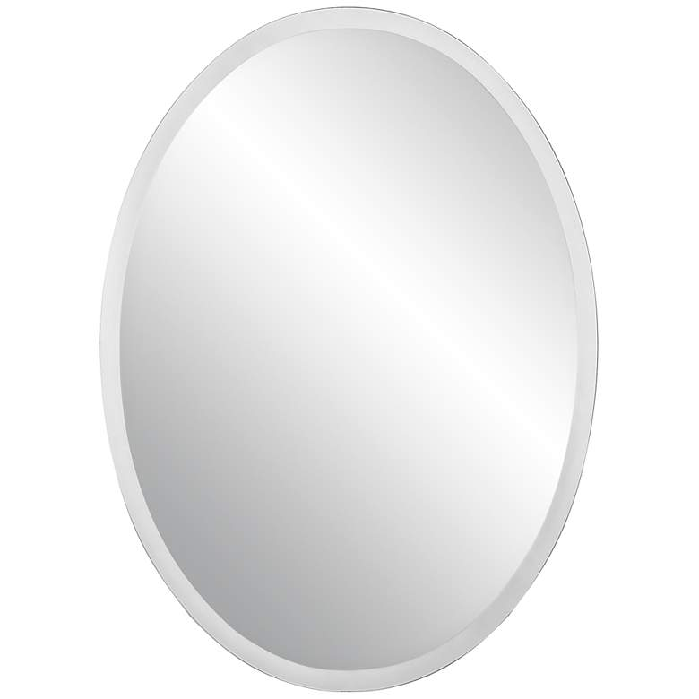"Oval Regency 24"" x 48"" Beveled Frameless Wall Mirror"