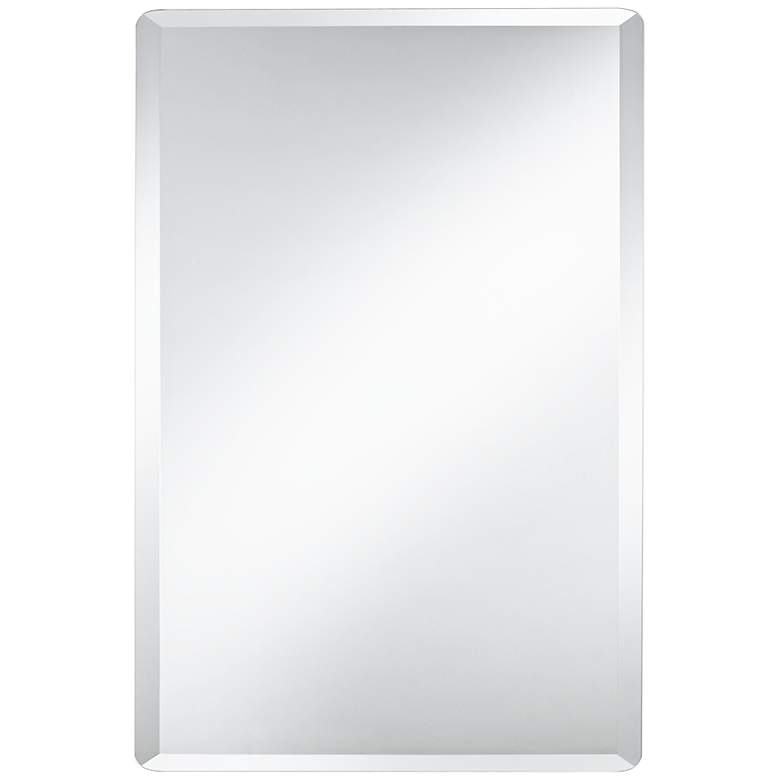 "Frameless Rectangular 30"" x 40"" Beveled Wall Mirror"