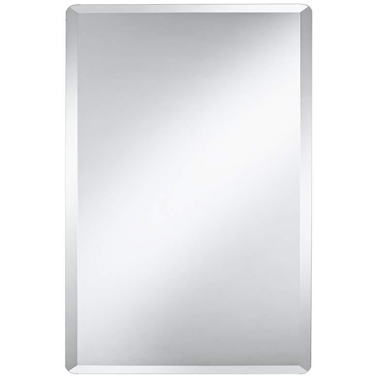 "Galvin 24"" x 36"" Frameless Beveled Wall Mirror"