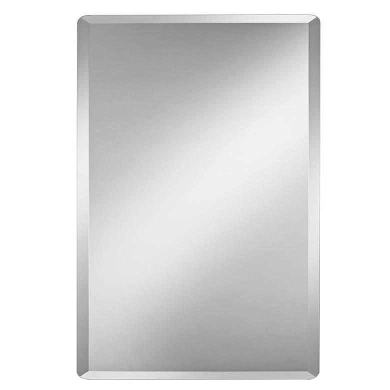 "Frameless Rectangular 20"" x 30"" Beveled Wall Mirror"