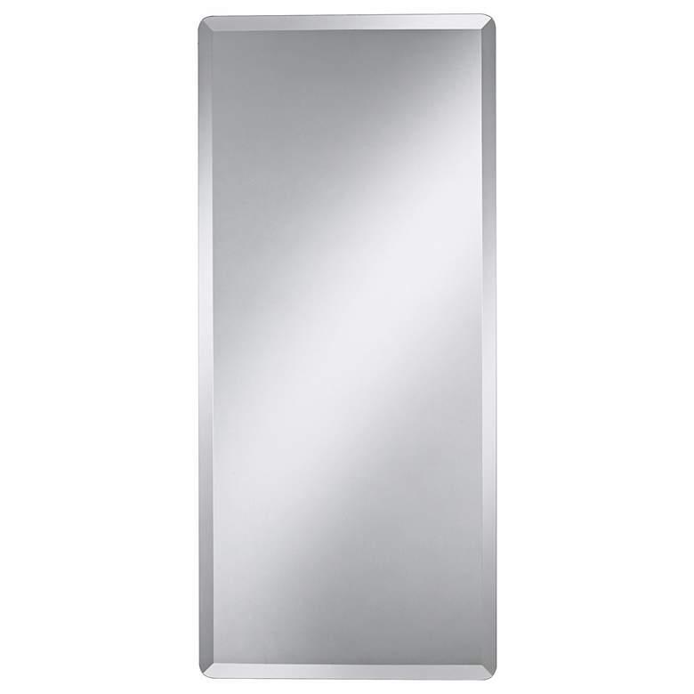 "Frameless Rectangular 18"" x 40"" Beveled Wall Mirror"