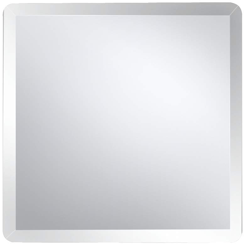 "Galvin 36"" Square Frameless Beveled Wall Mirror"
