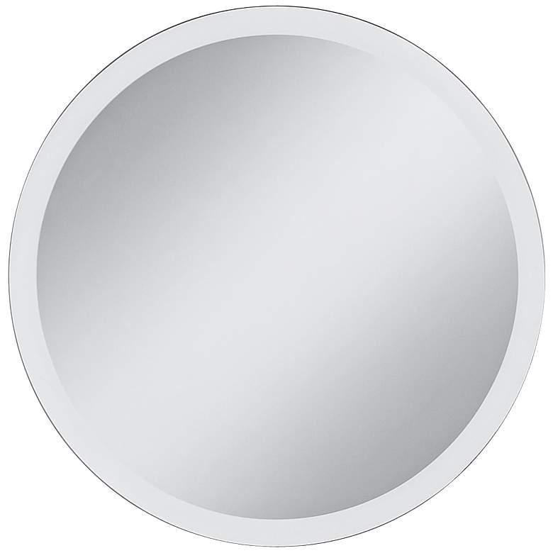 "Frameless 24"" Round Beveled Wall Mirror"