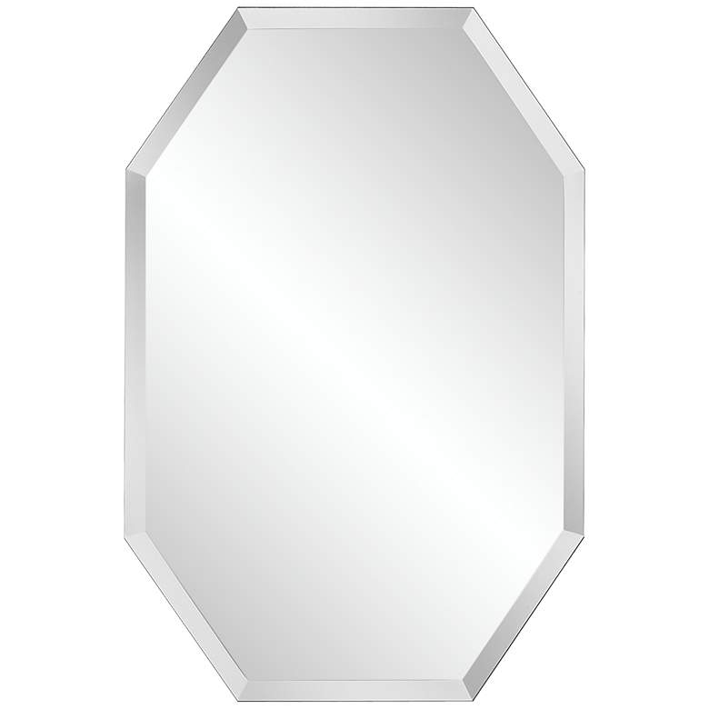 "Octagonal Frameless 24"" x 36"" Beveled Wall Mirror"