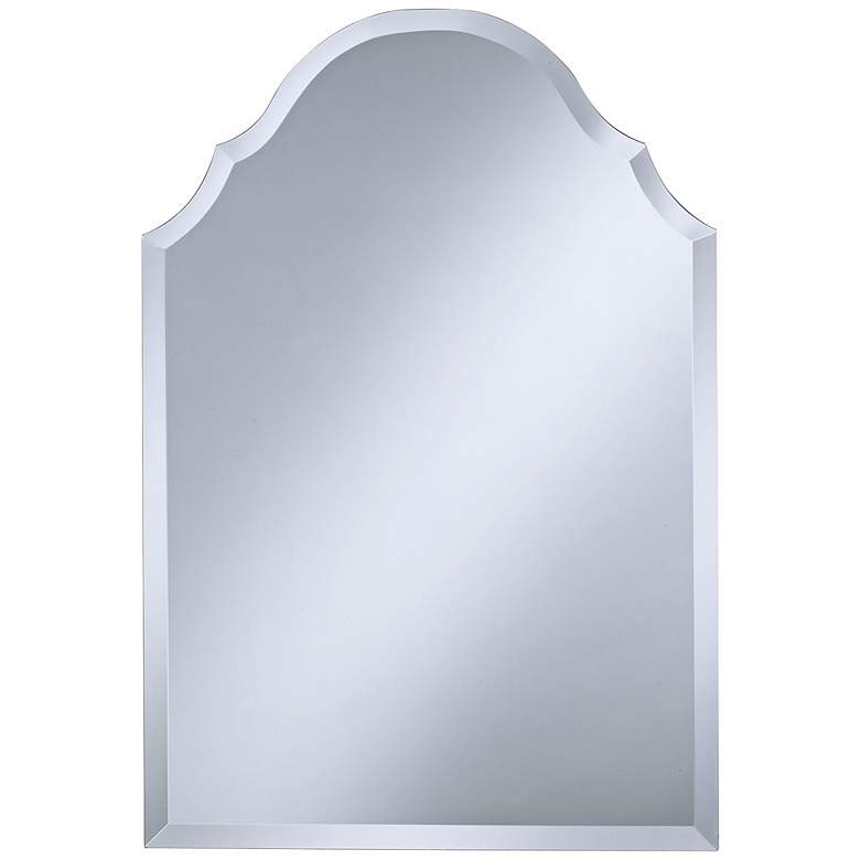 "Crown 22"" x 32"" Frameless Beveled Wall Mirror"