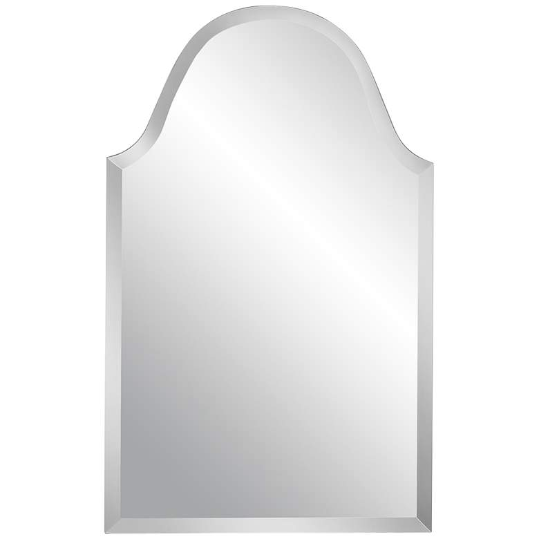 """Crown Arch Frameless 20"""" x 32"""" Beveled Wall Mirror"""