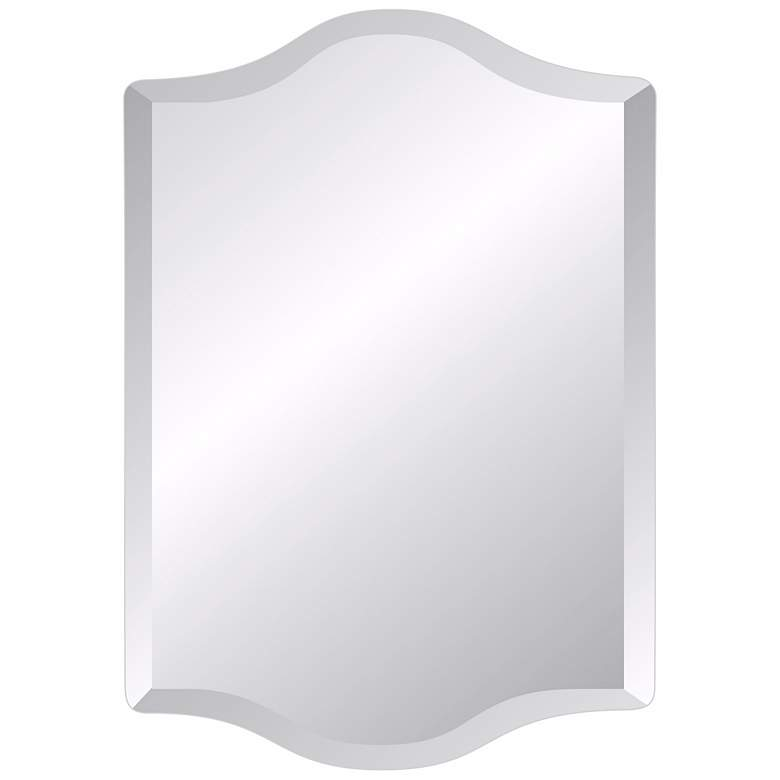 """Double Crown 24"""" x 36"""" Frameless Beveled Wall Mirror"""