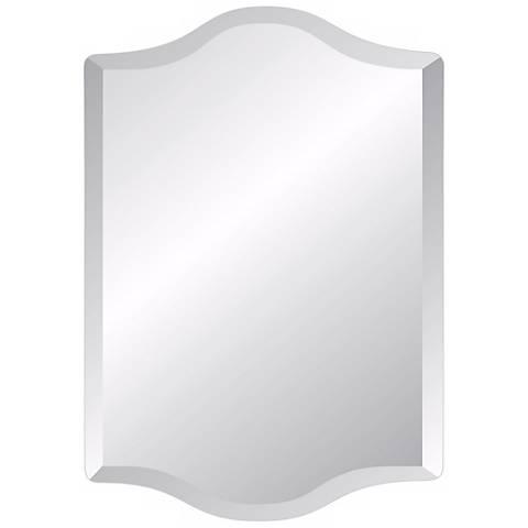 "Double Crown Frameless 36"" High Beveled Mirror"