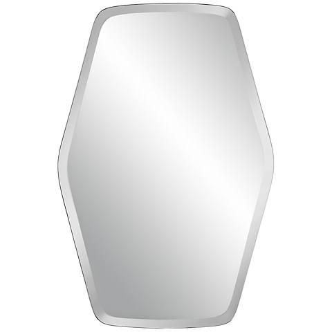 """Column Frameless 36"""" High Beveled Mirror"""