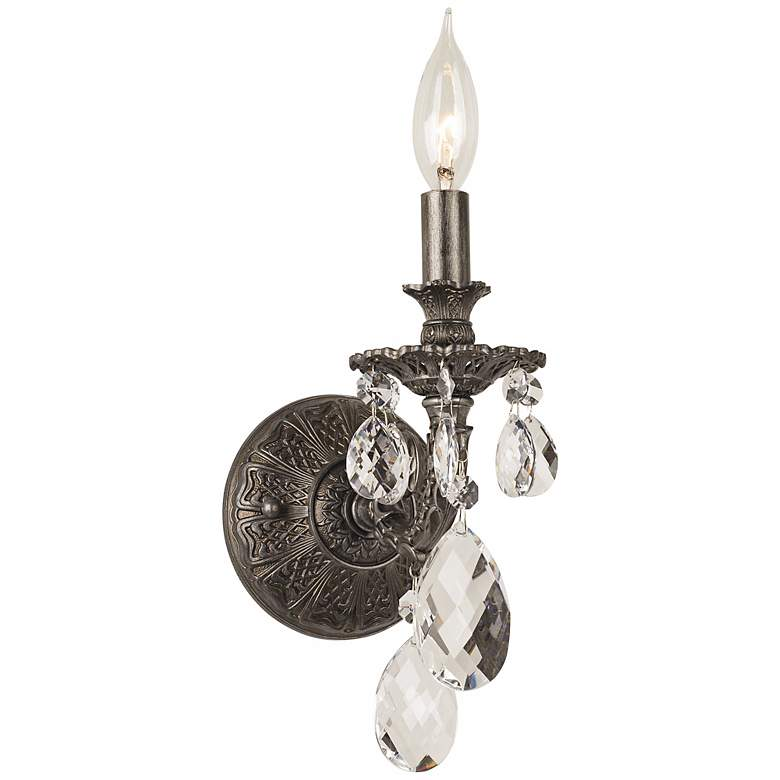 """Schonbek Milano Collection 13 1/2"""" High Crystal Wall Sconce"""