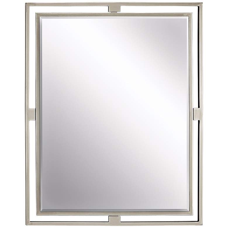 "Kichler Hendrik Brushed Nickel 24"" x 30"" Wall Mirror"