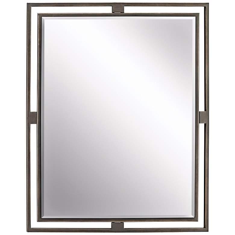 "Kichler Hendrik Olde Bronze 24"" x 30"" Wall Mirror"