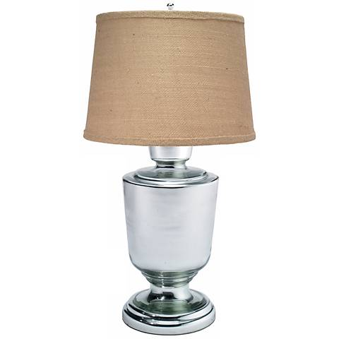 Large Laffite Mercury Glass Table Lamp