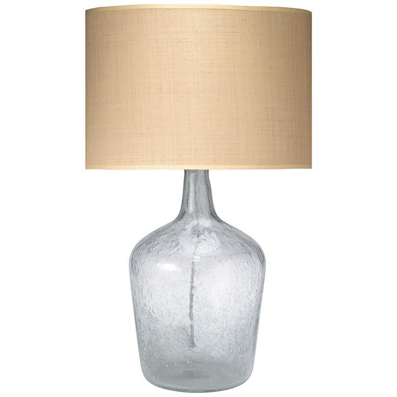Jamie Young Medium Clear Glass Plum Jar Table Lamp
