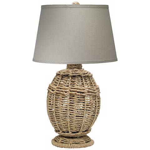 Jamie Young Small Jute Table Lamp