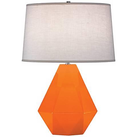"Robert Abbey Delta Pumpkin Orange 22 1/2"" High Table Lamp"