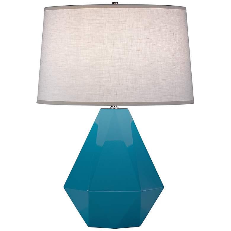 "Robert Abbey Delta Peacock Blue 22 1/2"" High Table Lamp"