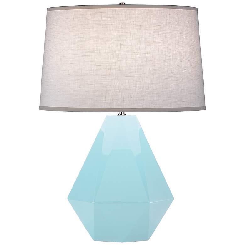 "Robert Abbey Delta Baby Blue 22 1/2"" High Table Lamp"