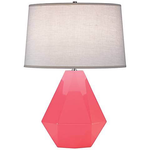 "Robert Abbey Delta Schiaparelli Pink 22 1/2"" High Table Lamp"