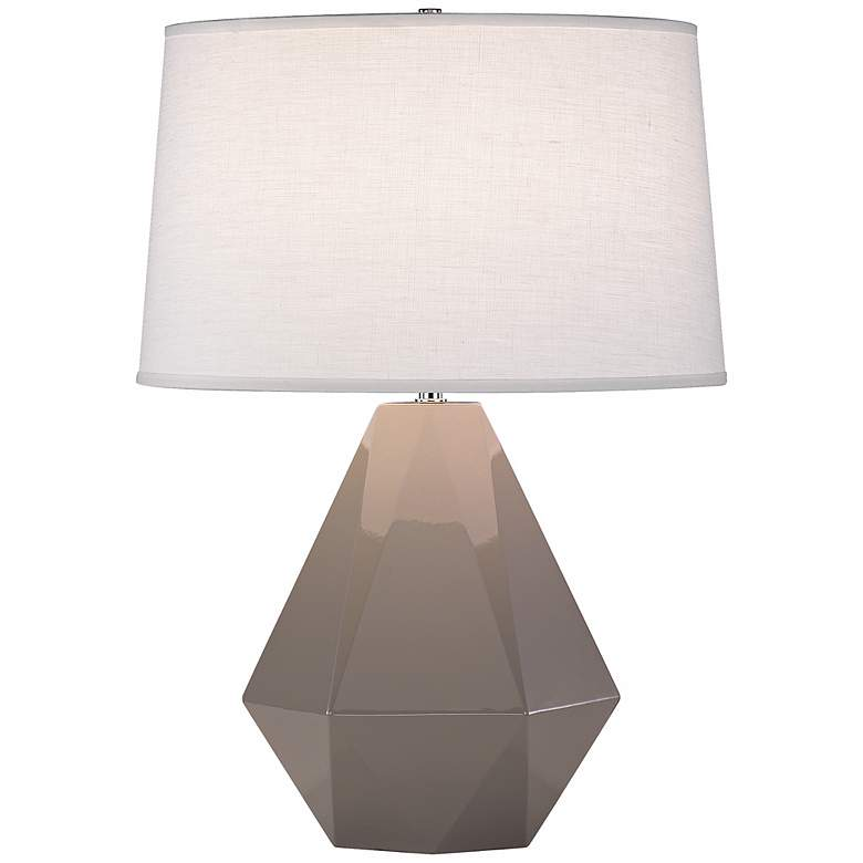 "Robert Abbey Delta Smokey Gray Taupe 22 1/2"" High Table Lamp"