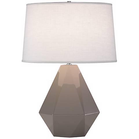 Robert Abbey Delta Smokey Gray Taupe 22 1 2 High Table Lamp