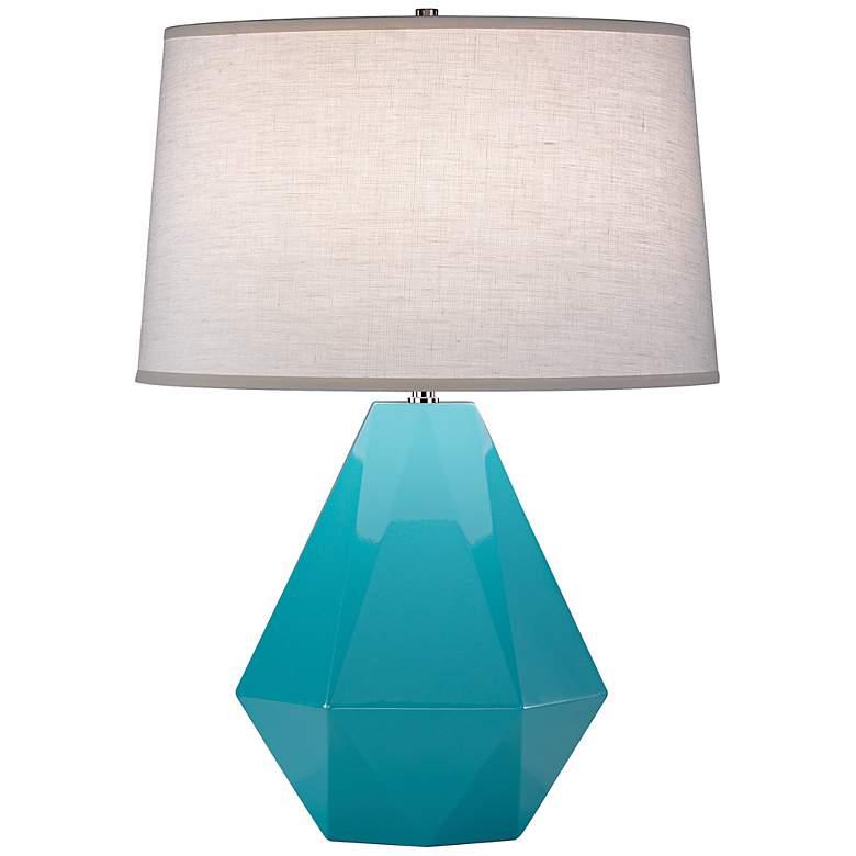 "Robert Abbey Delta Egg Blue 22 1/2"" High Table Lamp"