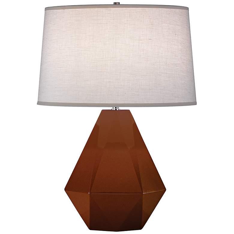 "Robert Abbey Delta Cinnamon Brown 22 1/2"" High Table Lamp"