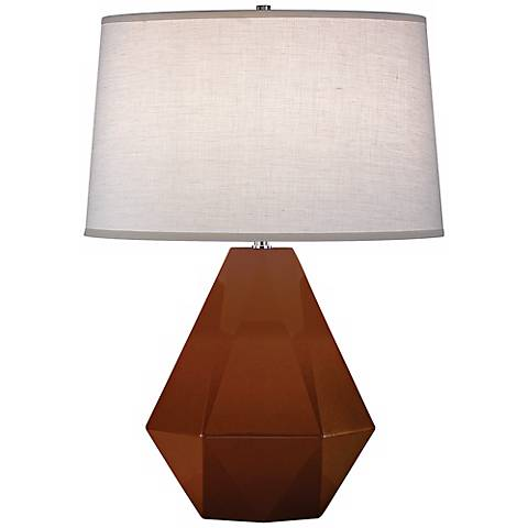 "Robert Abbey Delta Cinnamon Brown 22 1/2"" High Table Lamp"
