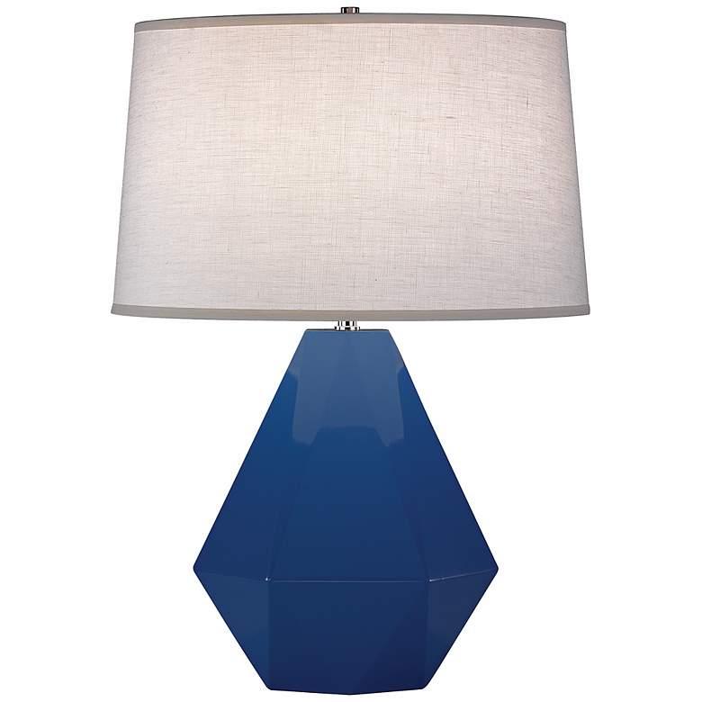 "Robert Abbey Delta Marine Blue 22 1/2"" High Table Lamp"