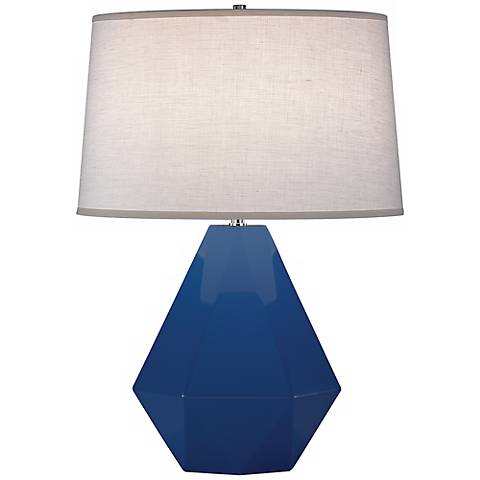 "Robert Abbey Delta Marine Blue 22 1/2"" High Table Lamp"