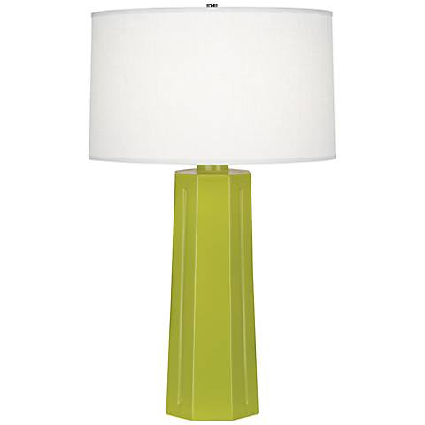 "Robert Abbey Mason Apple Green 26"" High Table Lamp"