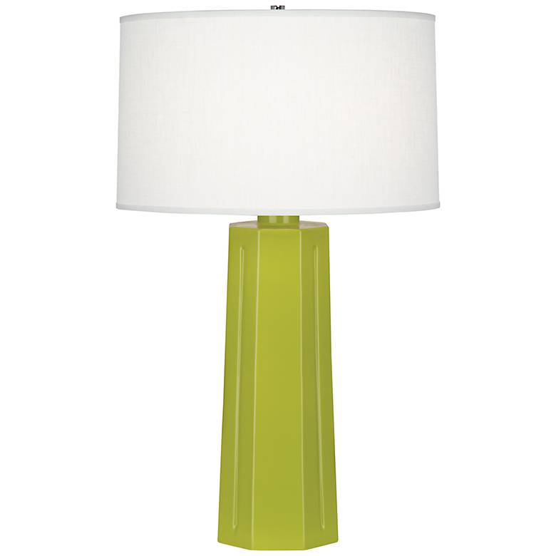 "Robert Abbey Mason Apple Green 26"" High Table Lamp"