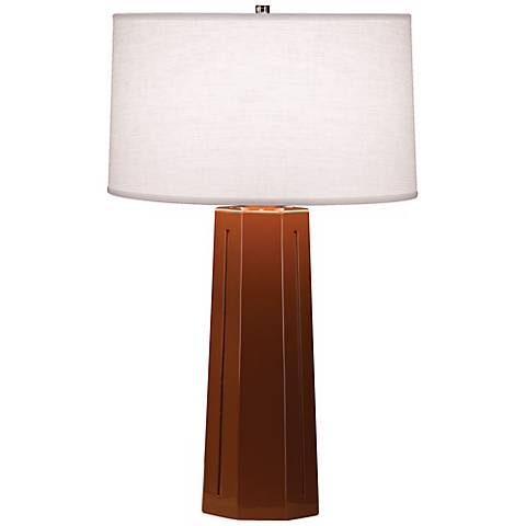 "Robert Abbey Mason Cinnamon  26"" High Table Lamp"